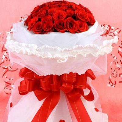花束.33朵红玫瑰.