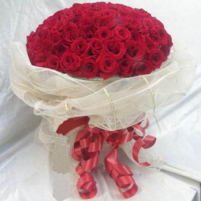 99朵特级红玫瑰,.