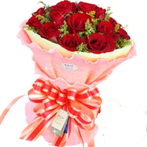 商品名称:19支红玫瑰黄英点缀