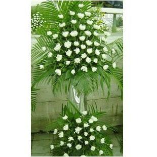 菊花,上下两层 大花架 西式丧事用花