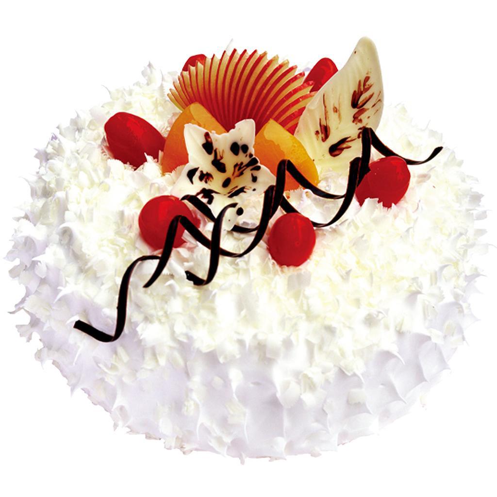 圆形冰淇凌蛋糕,时令水果装饰