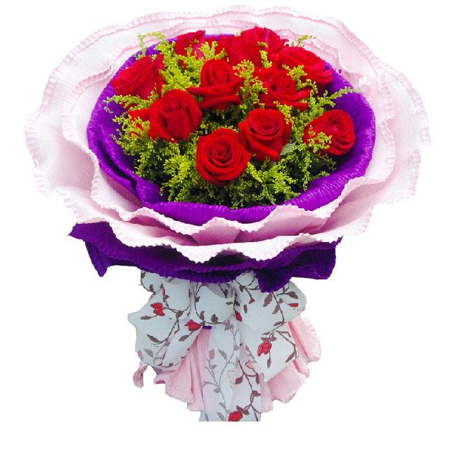11朵红玫瑰,黄莺穿插